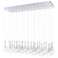 ET2 E20118-18 Larmes 24 Light 14 inch Polished Chrome Pendant Ceiling Light