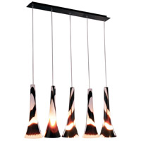 ET2 Sundae 5 Light Linear Pendant in Black E20187-34