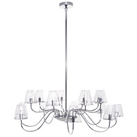 Chic 16 Light 40 inch Polished Chrome Chandelier Ceiling Light