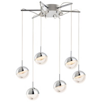 Spot LED 21 inch Polished Chrome Multi-Light Pendant Ceiling Light