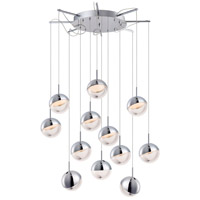 Spot LED 27 inch Polished Chrome Multi-Light Pendant Ceiling Light