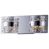 ET2 E20332-20PC Tiara LED 14 inch Polished Chrome Bath Vanity Wall Light
