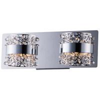 ET2 E20332-20PC Tiara LED 14 inch Polished Chrome Bath Vanity Wall Light