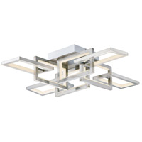ET2 E20352-SN Link LED 29 inch Satin Nickel Flush Mount Chandelier Ceiling Light