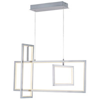 ET2 E20356-SN Link LED 32 inch Satin Nickel Linear Pendant Ceiling Light