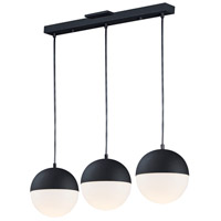 ET2 E20363-92BK Half Moon LED 30 inch Black Linear Pendant Ceiling Light