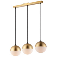 Metallic Gold Glass Island Lights