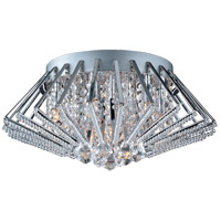 Zen 9 Light 20 inch Polished Chrome Flush Mount Ceiling Light