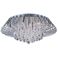 Zen 20 Light 27 inch Polished Chrome Flush Mount Ceiling Light