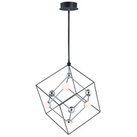 ET2 E20443-BKPC Ion LED 22 inch Black and Polished Chrome Single Pendant Ceiling Light