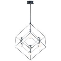 ET2 E20446-BKPC Ion LED 38 inch Black and Polished Chrome Single Pendant Ceiling Light