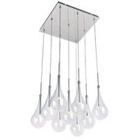 Larmes LED LED 12 inch Polished Chrome Single Pendant Ceiling Light