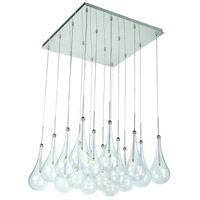 ET2 E20517-18PC Larmes LED LED 19 inch Polished Chrome Single Pendant Ceiling Light