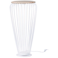 ET2 E20576-WTNW Cage 40 inch 7.20 watt White and Navaho White Floor Lamp Portable Light