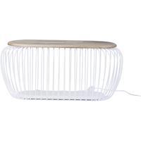 ET2 E20579-WTNW Cage 18 inch 9.00 watt White and Navaho White Floor Lamp Portable Light