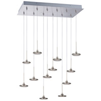ET2 Disc 12 Light Flush Mount Chandelier in Brushed Steel E20585-61BS