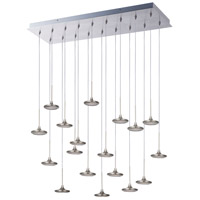 ET2 Disc 18 Light Flush Mount Chandelier in Brushed Steel E20586-61BS