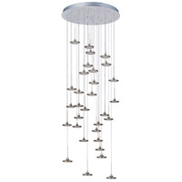 ET2 Disc 31 Light Flush Mount Chandelier in Brushed Steel E20589-61BS