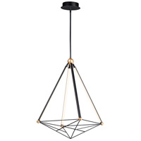 ET2 E20594-BKGLD Spire LED 27 inch Black and Gold Single Pendant Ceiling Light