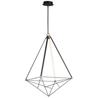 ET2 E20596-BKGLD Spire LED 35 inch Black and Gold Multi-Light Pendant Ceiling Light