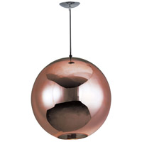 Solar 1 Light 16 inch Polished Chrome Foyer Light Ceiling Light in Mirror Copper