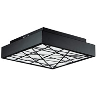 ET2 E20645-61BK Intersect LED 16 inch Black Flush Mount Ceiling Light