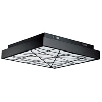 ET2 E20646-61BK Intersect LED 24 inch Black Flush Mount Ceiling Light