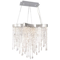 Crystal Sensation LED 13 inch Polished Chrome Single Pendant Ceiling Light