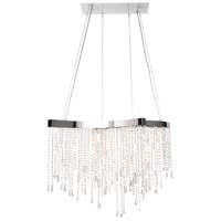 Crystal Sensation LED 18 inch Polished Chrome Single Pendant Ceiling Light