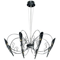 ET2 Belleza 8-Light Chandelier in Satin Nickel and Polished Chrome E20716-18 photo thumbnail