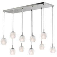 Tangent LED 20 inch Polished Chrome Linear Pendant Ceiling Light