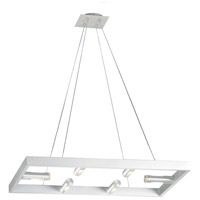 Stealth 6 Light 18 inch Brushed Aluminum Pendant Ceiling Light