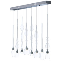 Anastasia LED 39 inch Polished Chrome Linear Pendant Ceiling Light