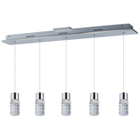 ET2 E20775-18PC Polka LED 4 inch Polished Chrome Pendant Ceiling Light