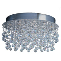 Cascada 18 Light 32 inch Polished Chrome Flush Mount Ceiling Light