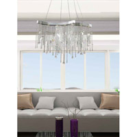 ET2 Crystal Sensation 10 Light Pendant in Polished Chrome E20804-20 alternative photo thumbnail