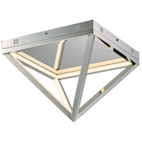 ET2 E20810-PC Pyramid LED 12 inch Polished Chrome Flush Mount Ceiling Light