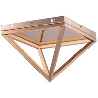Pyramid LED 12 inch Rose Gold Flush Mount Ceiling Light