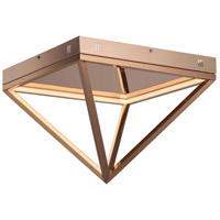 ET2 E20811-RG Pyramid LED 16 inch Rose Gold Flush Mount Ceiling Light