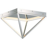 ET2 E20811-PC Pyramid LED 16 inch Polished Chrome Flush Mount Ceiling Light