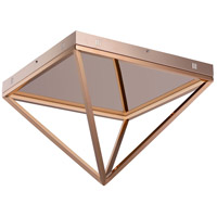 Pyramid LED 20 inch Rose Gold Flush Mount Ceiling Light