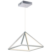 Pyramid LED 16 inch Polished Chrome Single Pendant Ceiling Light