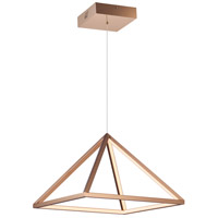 Pyramid LED 16 inch Rose Gold Single Pendant Ceiling Light
