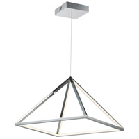 Pyramid LED 20 inch Polished Chrome Single Pendant Ceiling Light