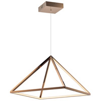 Pyramid LED 20 inch Rose Gold Single Pendant Ceiling Light