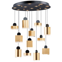 ET2 E20869-75BKGLD Nob LED 27 inch Black and Gold Multi-Light Pendant Ceiling Light