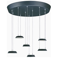 ET2 E20904-BK Quantum LED LED 20 inch Black Multi-Light Pendant Ceiling Light
