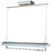 ET2 Linea 10 Light Linear Pendant in Satin Nickel E20965-10SN