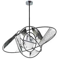 Astro LED 18 inch Black and Stainless Steel Single Pendant Ceiling Light