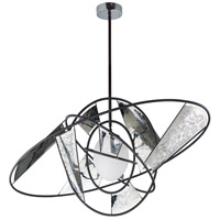 ET2 E21059-01BKSST Astro LED 18 inch Black and Stainless Steel Single Pendant Ceiling Light